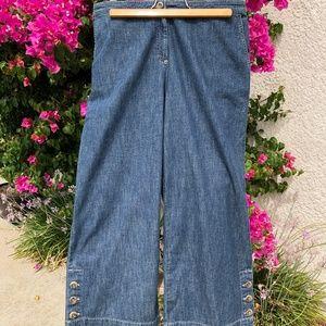 Women's Wide Leg Cropped Jeans - Size 14
